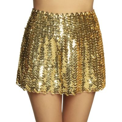 Gouden pailletten rokje dames