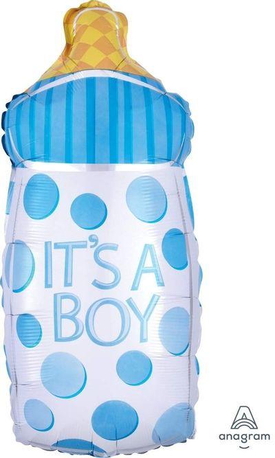 Folie ballon fles - It's a boy