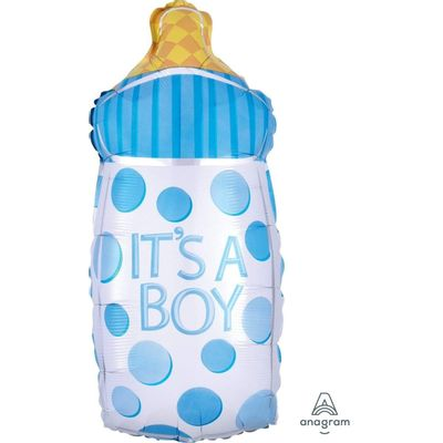 Foto van Folie ballon fles - It's a boy