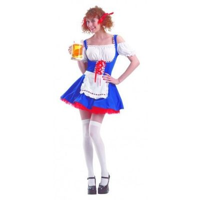 Foto van Oktoberfest jurkje blauw