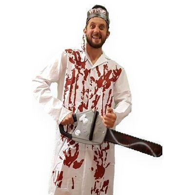 Foto van Bloederig dokter kostuum