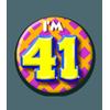Afbeelding van Button 41 jaar