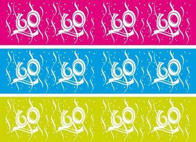 Afzetlint 60 Jaar Swirls 15 Mtr/s