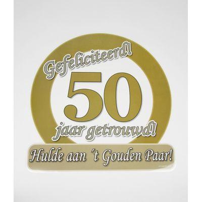 Foto van Hulde schild 50 jaar getrouwd