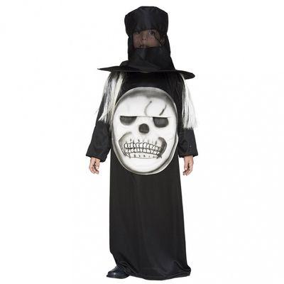 Doodskop met hoed kostuum kind