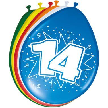 Leeftijd ballonnen 14 jaar 8 stuks