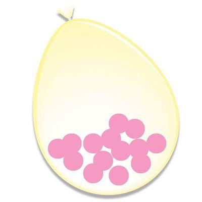 Foto van Ballonnen roze Confetti (30cm) 6st