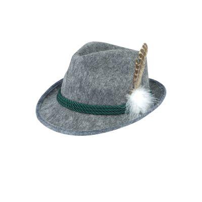 Foto van Tiroler hoed grijs - budget