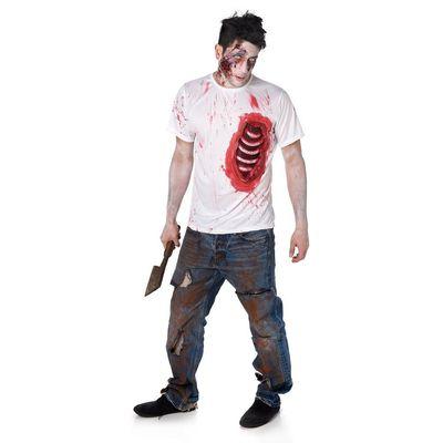 Foto van Zombie Tshirt open ribben
