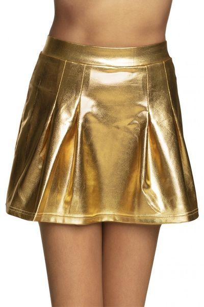 Minirok showgirl goud