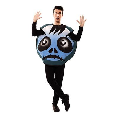 Foto van Emoticon kostuum zombie blauw
