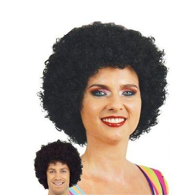 Afro Pruik mini zwart