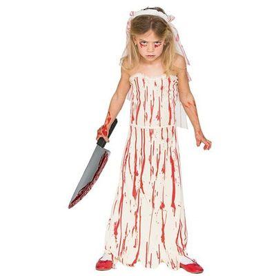 Foto van Zombie bruidsjurk kind