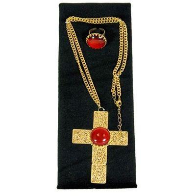 Sinterklaasset Kruisketting en ring