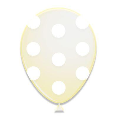 Ballonnen witte Stippen (30cm) 6st