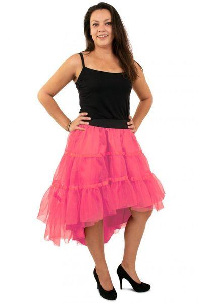 Petticoat schuin aflopend roze