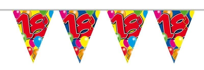 Foto van Vlaggenlijn balloons 18 jaar 10M