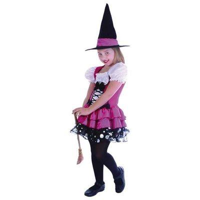 Roze heksenjurk kind