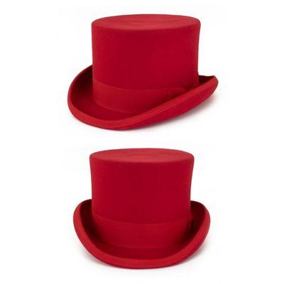 Hoge hoed wol Rood