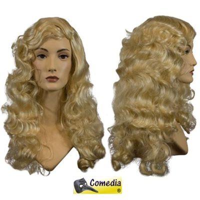 Theaterpruik golvend lang blond