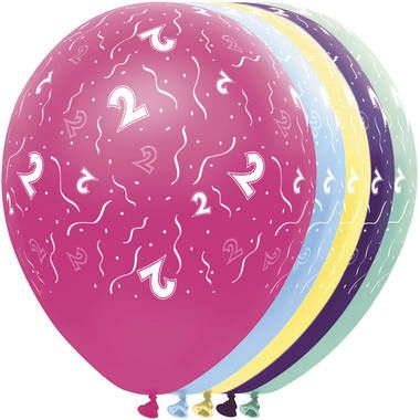 Leeftijd ballonnen 2 jaar 5 stuks