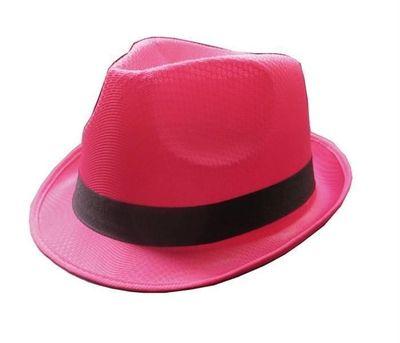 Roze neon hoed