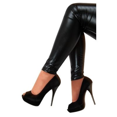Foto van Legging metallic zwart