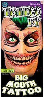The Joker mond neptattoo