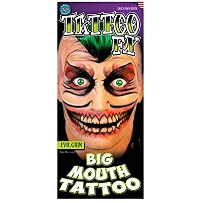 Foto van The Joker mond neptattoo