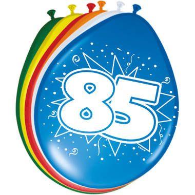 Foto van Leeftijd ballonnen 85 jaar 8 stuks