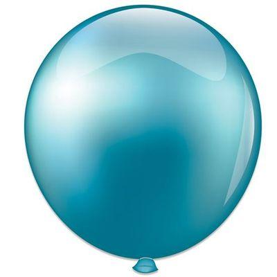 Topballon parel lichtblauw (91cm)