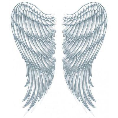 Rug neptattoo vleugels