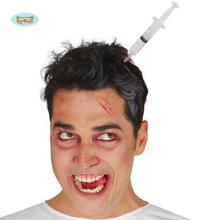 Diadeem met injectiespuit