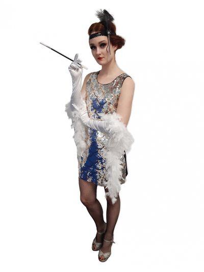 Pailletten jurkje zilver