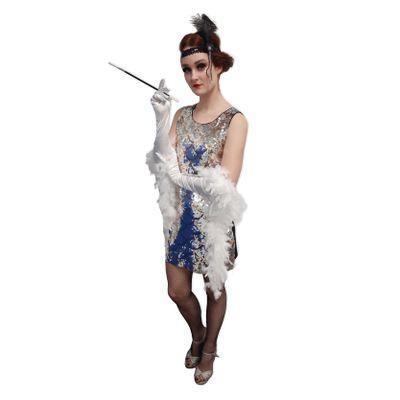 Foto van Pailletten jurkje zilver