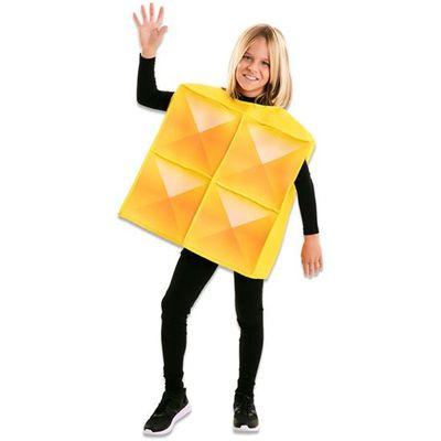 Tetris kostuum geel kind