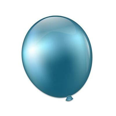 Ballonnen platinum blauw (28cm)