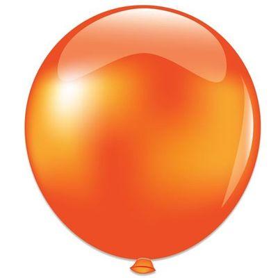 Topballon metallic oranje (91cm)