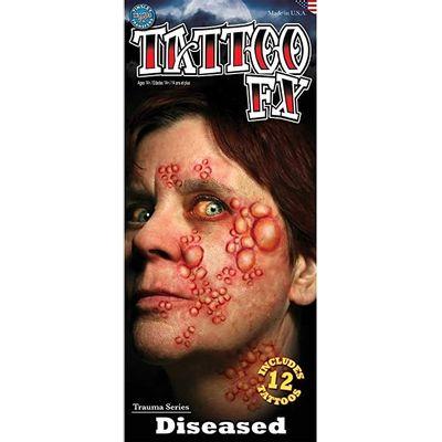 Foto van Exorcist gezicht neptattoo