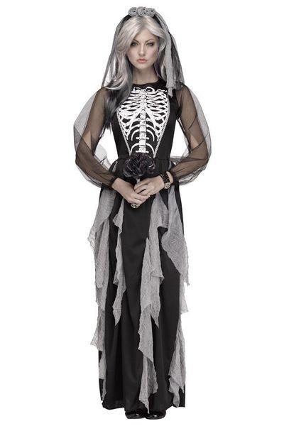 Skelet bruidje jurk dames