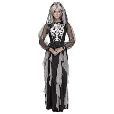 Foto van Skelet bruidje jurk dames