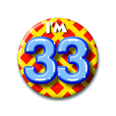 Foto van Button 33 jaar