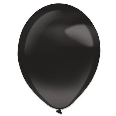Foto van Ballonnen jet black pearl (35cm) 50st