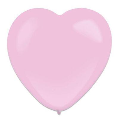 Hartballon pretty pink (30cm) 50st