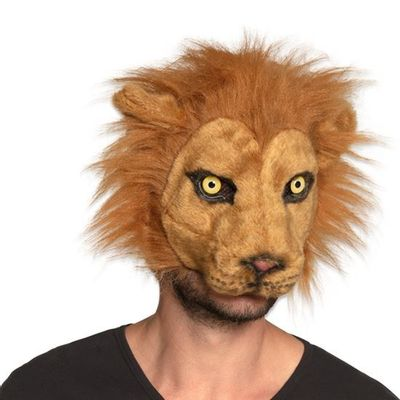 Masker leeuw pluche