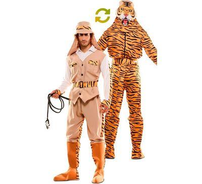 Double fun! Jager en tijger kostuum
