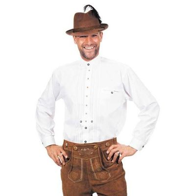Tiroler overhemd wit