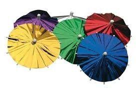 Foto van Cocktailprikkers paraplu metallic