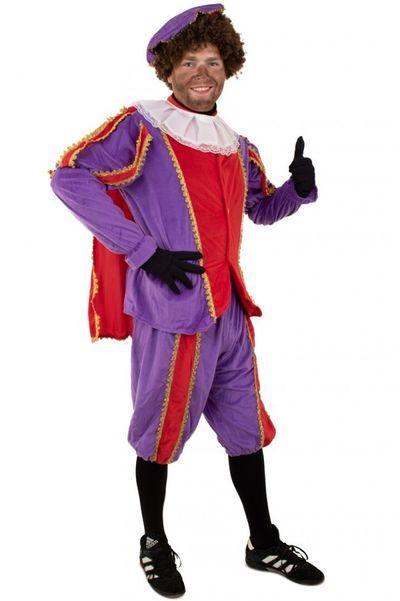 Piet kostuum rood/paars unisex