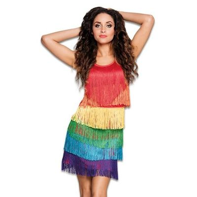 Regenboog jurkje